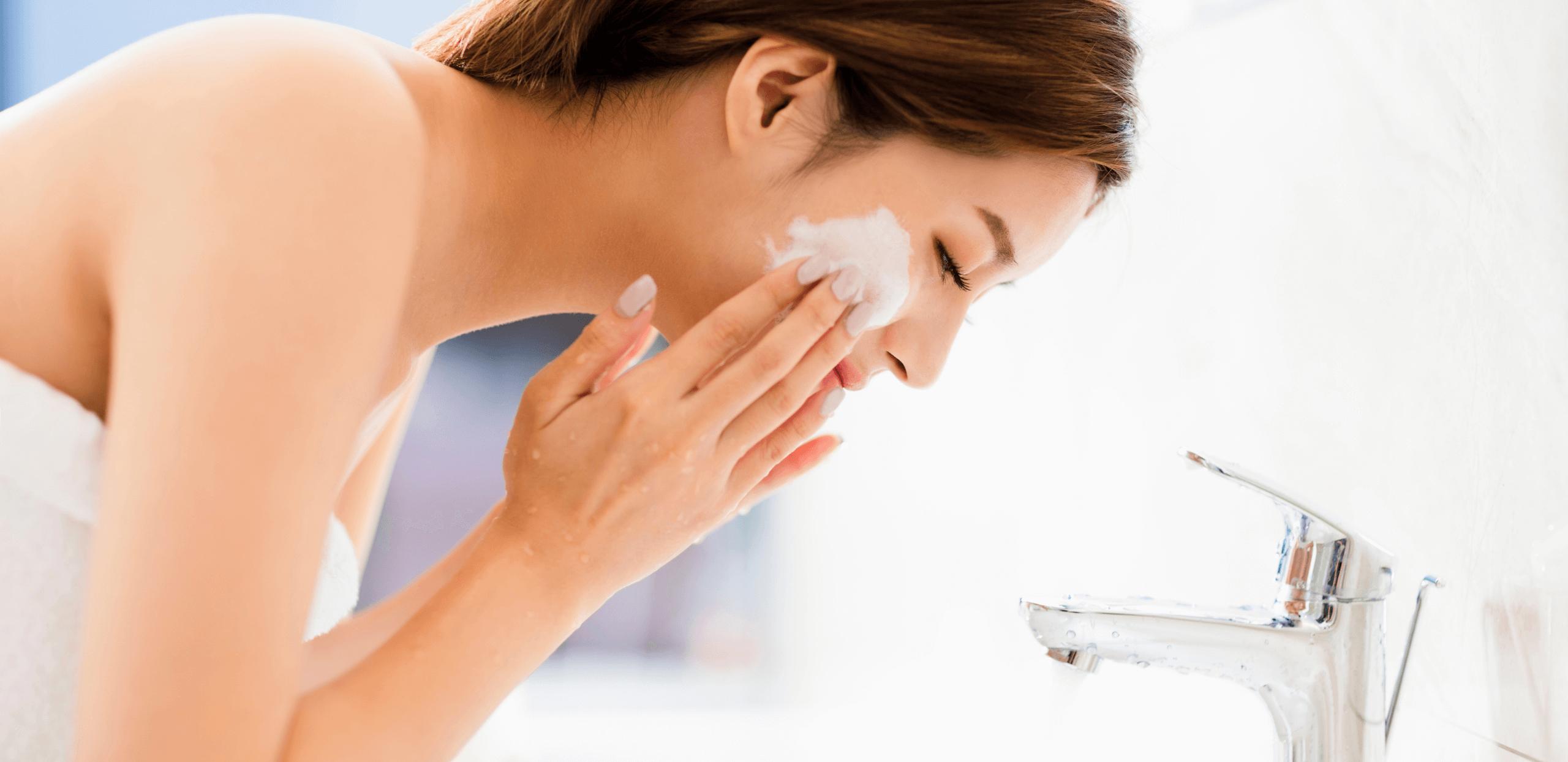 時間をあけて洗顔