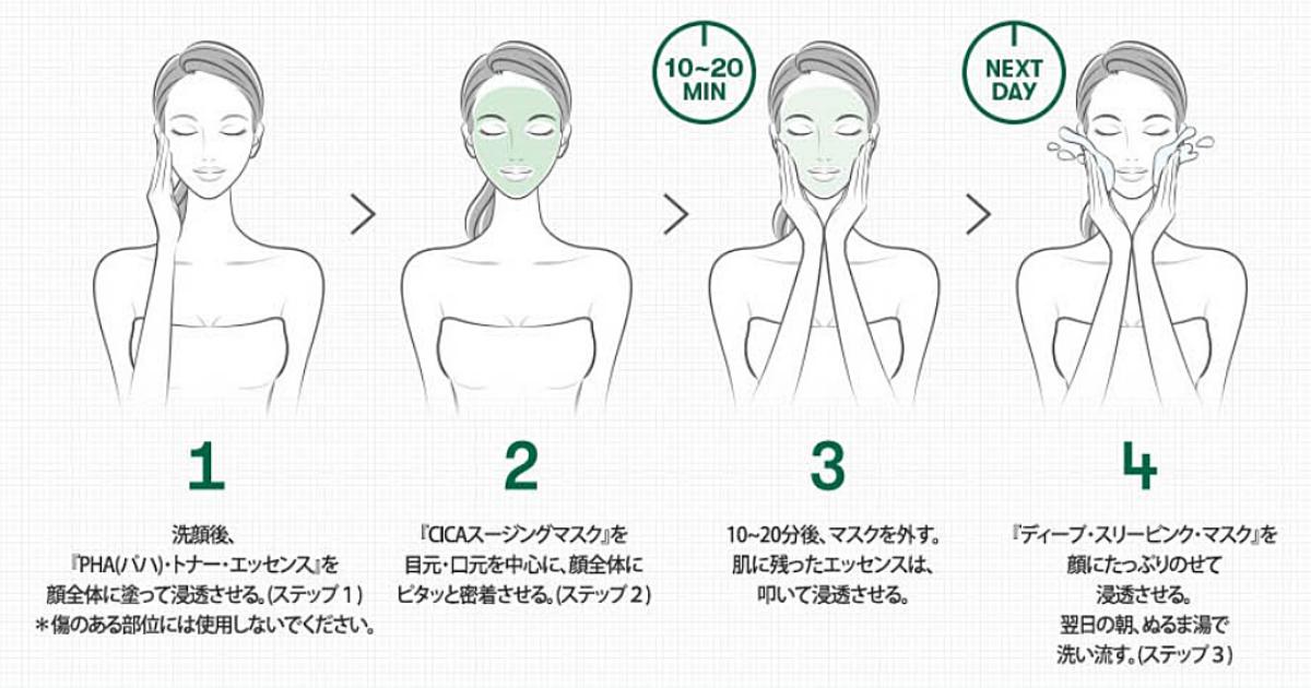 VTシカ3ステップマスクの効果的な使い方